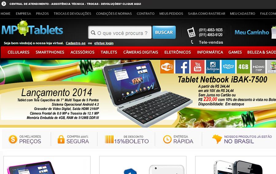 bf4ab8c13 Mp Tablets  loja virtual de produtos eletrônicos